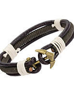 Men's Leather Bracelet Jewelry Natural Fashion Leather Alloy Irregular Jewelry For Special Occasion Gift Sports 1pc