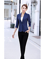 Damen Anzug,V-Ausschnitt Lange Ärmel