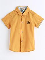 Boys' Solid Shirt,Cotton Summer Short Sleeve
