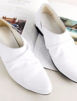 Men's Loafers & Slip-Ons Comfort Real Leather Spring Summer Casual Comfort White Black Coffee Flat