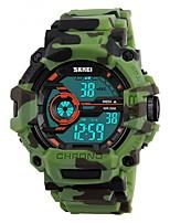 SKMEI Masculino Relógio Esportivo Relógio Militar Relógio de Pulso DigitalLCD Calendário Impermeável Dois Fusos Horários alarme