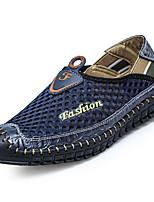 Men's Loafers & Slip-Ons Spring Fall Comfort Cowhide Casual Flat Heel Rivet Black White Walking