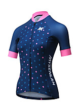 MYSENLAN® Cycling Jersey Women's Short Sleeve Bike Breathable Quick Dry Jersey Polyester Fashion Summer