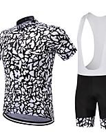 Maillot de Ciclismo con Shorts Bib Hombres Mangas cortas Bicicleta Sets de PrendasSecado rápido Transpirable Compresión Reductor del