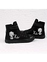 Da donna Sneakers Di corda Primavera Nero Piatto