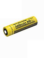 2pcs nitecore 3.7v 12.6wh bateria recarregável 18650 de iões de lítio 3400mAh nl1834