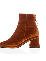 Women's Boots Comfort Microfibre Suede Spring Casual Camel Army Green Black Flat