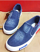 Men's Loafers & Slip-Ons Comfort Canvas Spring Casual Navy Blue Light Blue Flat