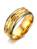 Men's Ring Vintage  Elegant 18KGold Titanium Steel Ring Jewelry For Wedding Party/ Evening Thank You Daily