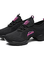 ללא התאמה אישית נשים מודרני עור בד נעלי ספורט חיצוני בלוק צבע שטוח לבן שחור פוקסיה 5 - 7 ס