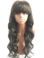 7A Full Lace Human Hair Wigs With Bangs Malaysian Virgin Hair Full Fringe Wig Human Hair Glueless Full Lace Wigs For Black Women