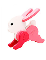 Puzzles Puzzles 3D Blocs de Construction Jouets DIY  Rabbit Bois Maquette & Jeu de Construction