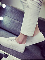 Men's Sneakers Comfort Tulle Spring Casual Black White Flat