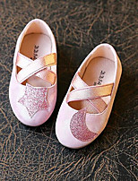 Girls' Flats First Walkers PU Spring Fall Casual Walking First Walkers Magic Tape Low Heel Blushing Pink Gold Flat