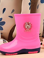 Girls' Boots First Walkers PU Leatherette Spring Summer Outdoor Casual Walking Magic Tape Low Heel Blushing Pink Blue Fuchsia Flat