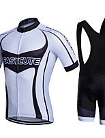 Sports Cycling Jersey with Bib Shorts Men's Short Sleeve BikeBreathable / Quick Dry / Moisture Permeability / 3D Pad / Reduces Chafing /