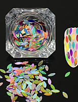 0.2g/bottle New Fashion Beautiful Colorful Rainbow Sweet Style Nail Art Shining Glitter Horse Eye Leaf Paillette DIY Graceful Sequins Decoration MB08