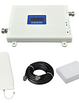 2G 900mhz GSM Cell Phone Signal Booster GSM980 Signal Amplifier with Log Periodic Antenna / Panel Antenna / Cable / LCD Display / White