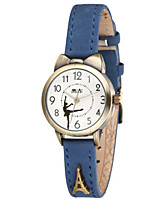 Women's Fashion Watch Quartz Leather Band Blue Brown Yellow
