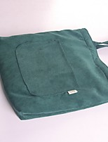 Women Shoulder Bag Suede All Seasons Casual Shopper Magnetic Dark Green