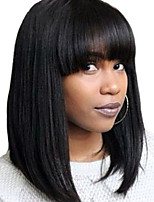 New Fashion Brazilian Hair Bob Wig Straight Hair for Woman Lace Front Human Hair Wigs Short Virgin Hair Bob Wig with Bang