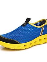 Da uomo Sneakers Comoda Tulle PU (Poliuretano) Primavera Casual Nero Blu Cachi Piatto