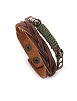 Муж. Кожаные браслеты Бижутерия Природа Мода Кожа Сплав Бижутерия Назначение Особые случаи Спорт