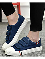 Men's Sneakers Comfort Canvas Spring Daily White Black Blue Flat