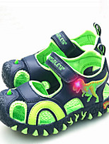 Boy's Sandals Children 3D Dinosaur Shoes Kids Comfort PU Summer Casual Outdoor clothing Cartoon Comfort Royal Blue Green/Blue Flat