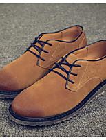 Men's Sneakers Comfort Suede Spring Casual Yellow Khaki Burgundy Flat