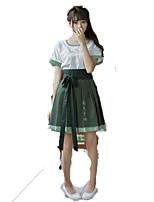 Drakter Wa Lolita Vintage Inspireret Cosplay Lolita-kjoler Vintage Kort Ærmet Kort / Mini Til
