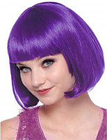 New Arrival Hot Fashion Short Natural Straight Dark Purple Cosplay Bobo Wigs