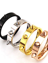 Basic Punk Hip-Hop Multi-ways Wear Classic Stainless Steel Couple Rings Bicone Shape Jewelry For Wedding Graduation Gift Daily Valentine