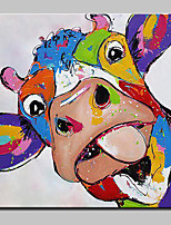 Hand Painted Cattle Show MOE Animal Oil Painting On Canvas Modern Art Wall Pictures For Home Decoration Ready To Hang