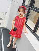 Girl's Polka Dots Dress,Cotton Autumn/Fall Summer Sleeveless