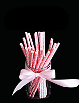 50PCS Wedding Club Bar Drinkware PP Juice Milk Straws (Random Color)