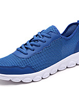 Men's Sneakers Comfort Light Soles Tulle Spring Fall Athletic Casual Lace-up Flat Heel Royal Blue Gray Black Flat
