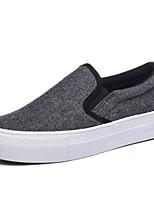 Women's Loafers & Slip-Ons Comfort Canvas Spring Casual Comfort Light Grey Dark Grey Flat