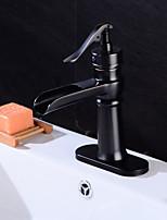 Antique Traditionnel Décoration artistique/Rétro Set de centreSoupape céramique Mitigeur deux trousRobinet lavabo