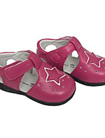 Girls' Flats First Walkers Real Leather Spring Fall Casual Walking First Walkers Magic Tape Low Heel Light Blue Blushing Pink Fuchsia Flat