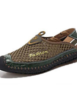 Men's Loafers & Slip-Ons Comfort Breathable Mesh Spring Casual Navy Blue Army Green Light Brown Flat