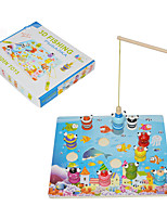 Fishing Toys For Gift  Building Blocks Model & Building Toy Square Wood Toys