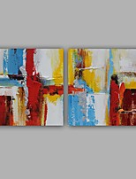 100%  Hand-Painted Abstract / Classic Two Panel Canvas Oil Painting For Home Decoration