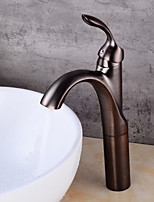 Antique CentersetCeramic Valve Single Handle One Hole for  Nickel Brushed , Bathroom Sink Faucet