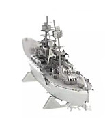 Jigsaw Puzzles 3D Puzzles Building Blocks DIY Toys Warship StainlessSteel Model & Building Toy