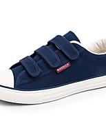 Men's Sneakers Comfort Canvas Spring Casual Black Blue Flat