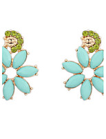 Stud Earrings Lady Girls' Korea Style Adorable Elegant Flower Rhinestone Earrings Set Party Daily Office & Career Movie Jewelry