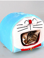 Cat Dog Bed Pet Mats & Pads Cartoon Waterproof Portable Soft Tent Light Blue