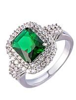 Damen Herrn Ring Smaragd Einzigartiges Design Modisch Euramerican Zirkon Aleación Schmuck Schmuck Für Hochzeit Besondere Anlässe