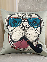 1 Pcs Creative Dog Boss Printing Pillow Cover Personality Design Cotton/Linen Pillow Case